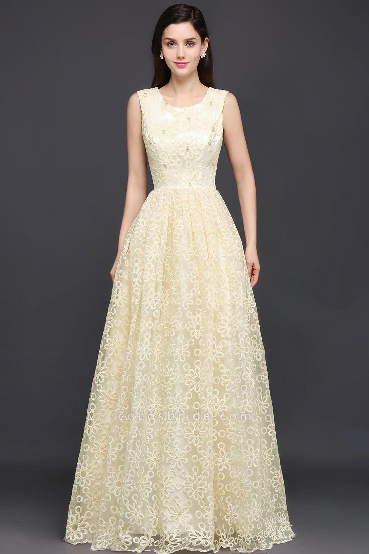 Amazing Square Lace A-line Evening Dress