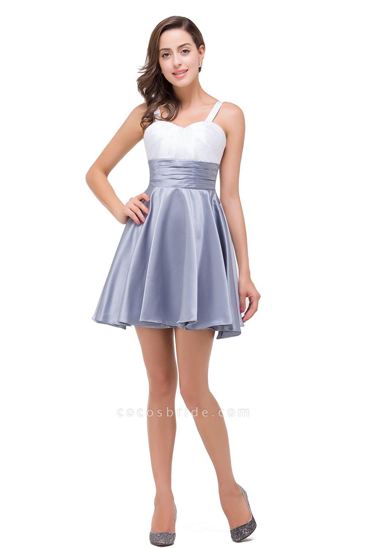 EVANGELINE   A-line Sleeveless Sweetheart Short Chiffon Prom Dresses