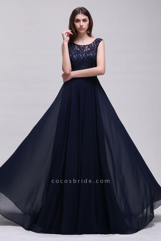 Eye-catching Scoop Chiffon A-line Evening Dress