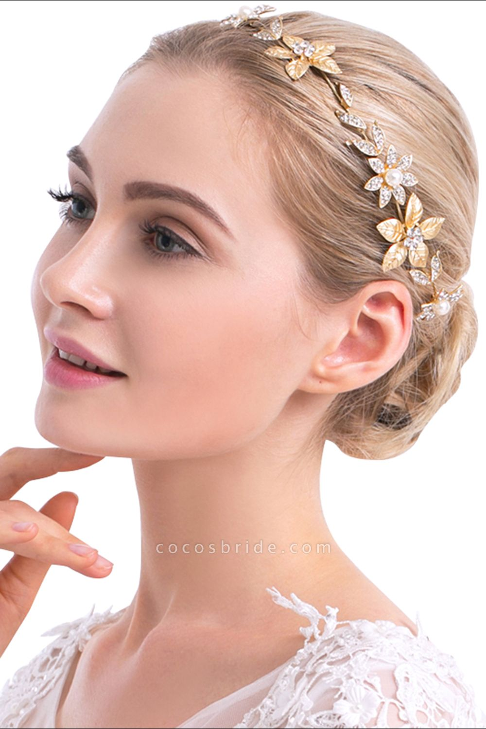 Floral Alloy&Imitation Pearls Daily Wear Hairpins Headpiece with Rhinestone