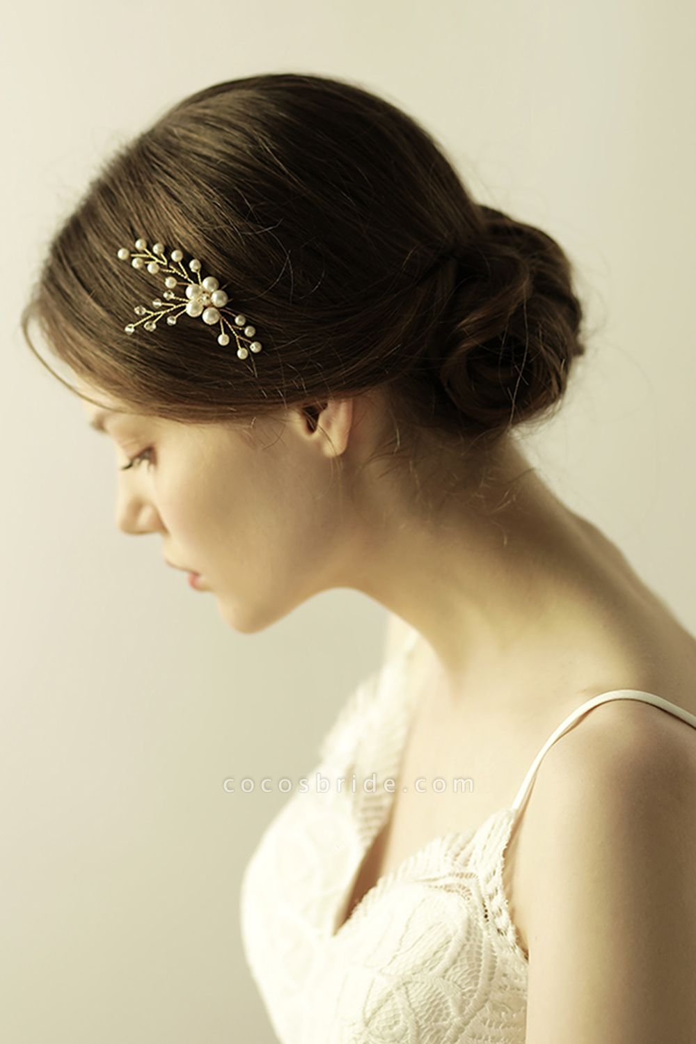 Cute Alloy Daily Wear Hairpins Headpiece with Imitation Pearls