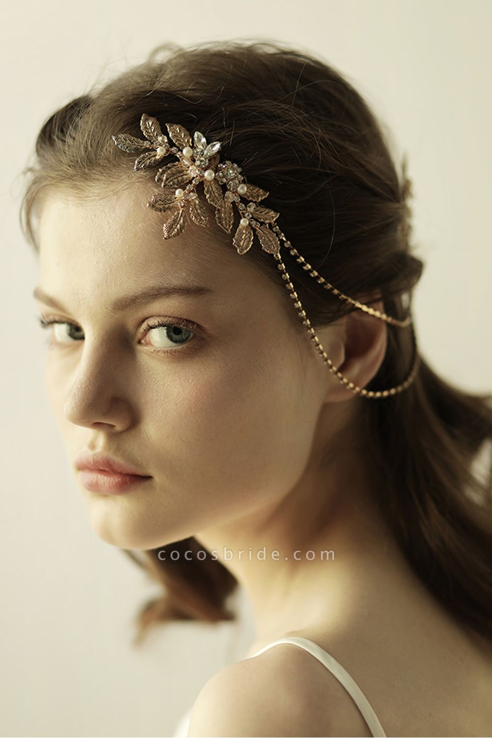Lovely Alloy&Rhinestone Party Combs-Barrettes Headpiece with Imitation Pearls
