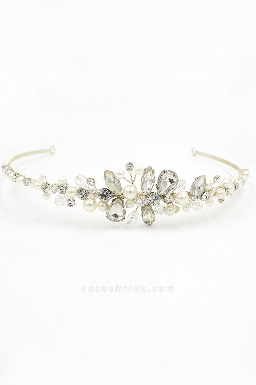 Elegant Alloy Imitation Pearls Special Occasion&Wedding Hairpins Headpiece with Crystal Rhinestone