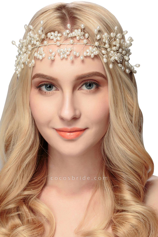 Beautiful Alloy&Imitation Pearls Party Headbands Headpiece with Rhinestone