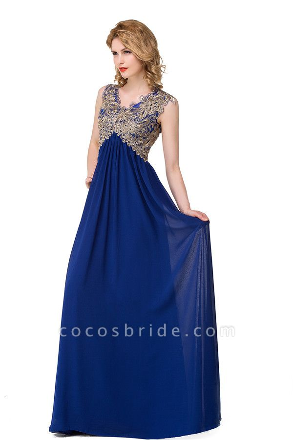 Excellent V-neck Chiffon A-line Evening Dress