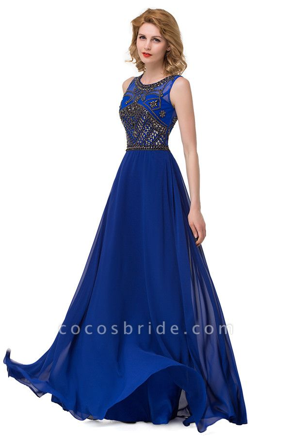 Beautiful Jewel Chiffon A-line Evening Dress