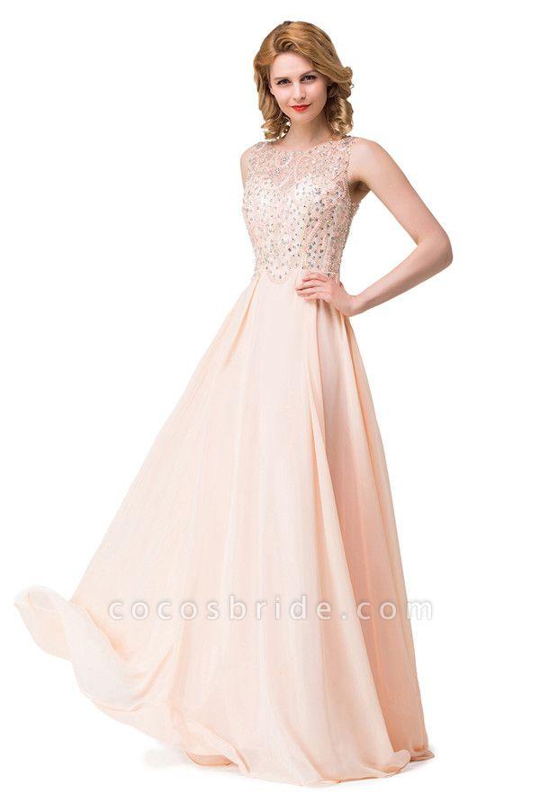 Chic Jewel Chiffon A-line Evening Dress