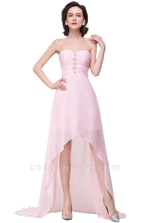 Sweetheart Chiffon A-line Hilo Bridesmaid Dress