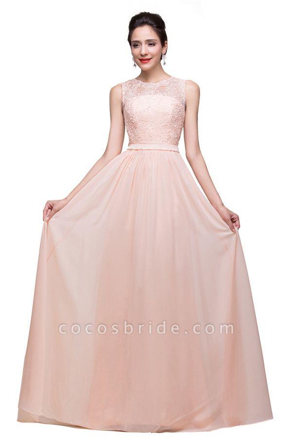 Chiffon A-line Floor Length Bridesmaid Dress