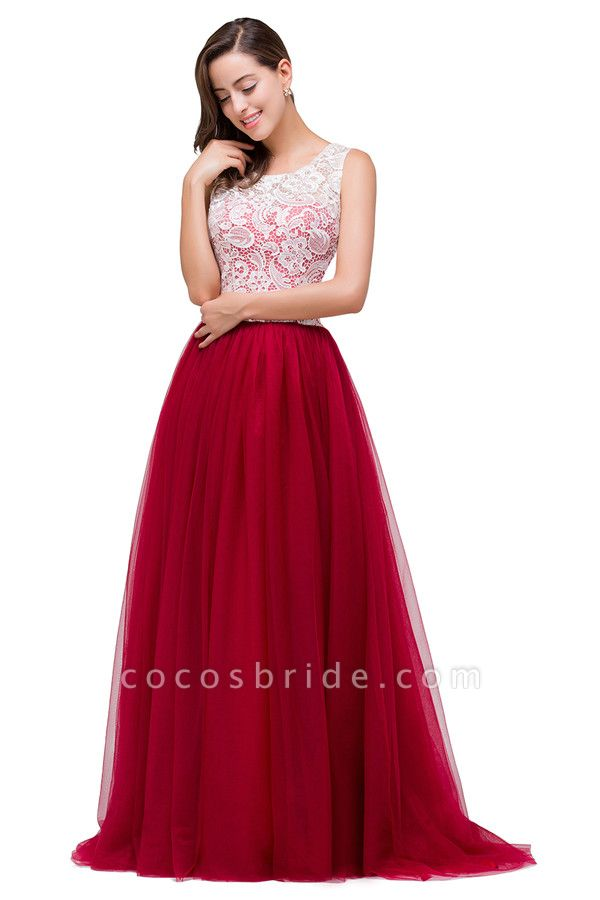Lace A-line Floor Length Bridesmaid Dress