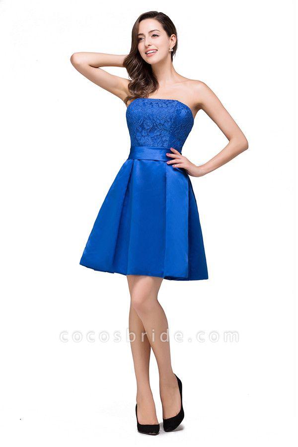 Strapless A-line Mini Bridesmaid Dress