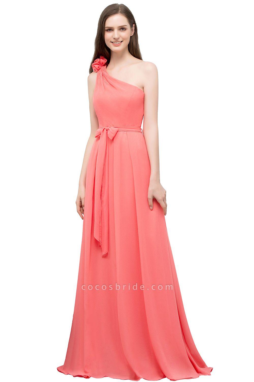Amazing One Shoulder Chiffon A-line Evening Dress