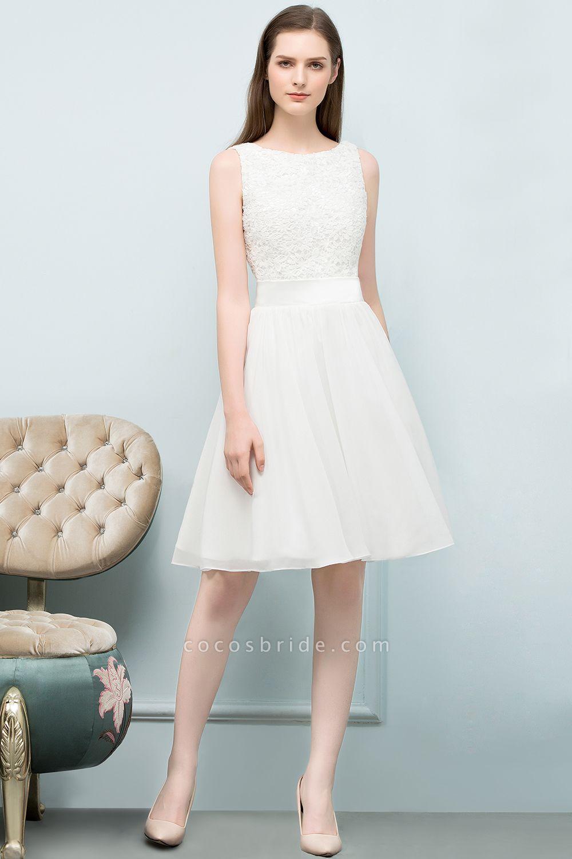 Modest Jewel Chiffon A-line Homecoming Dress