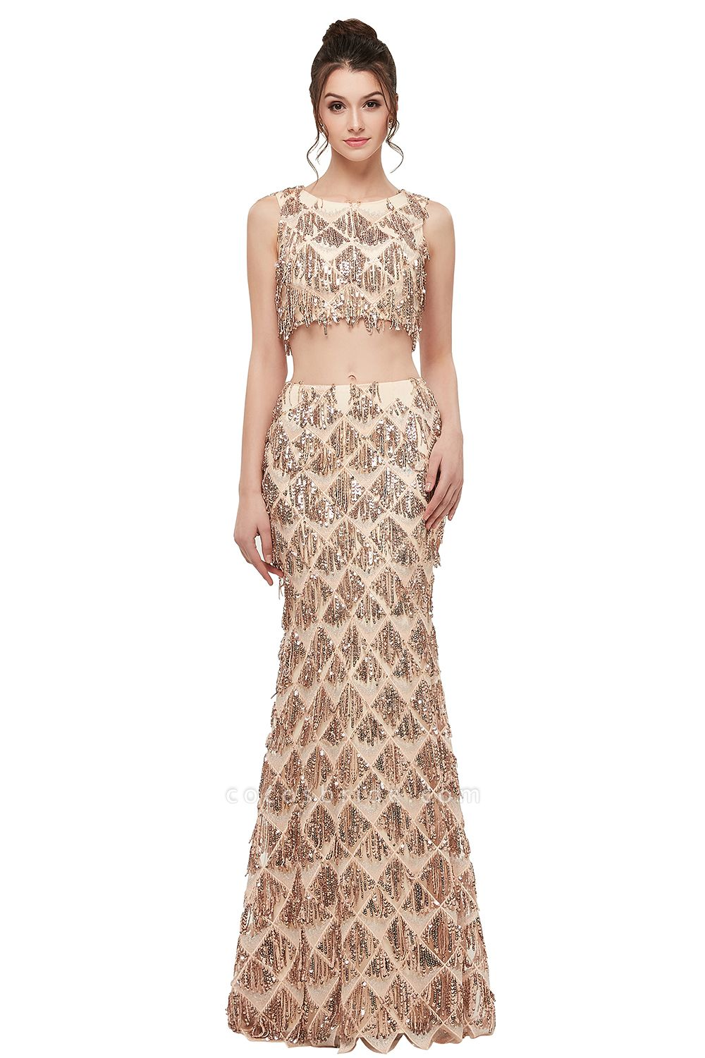 Latest Jewel Chiffon Mermaid Evening Dress