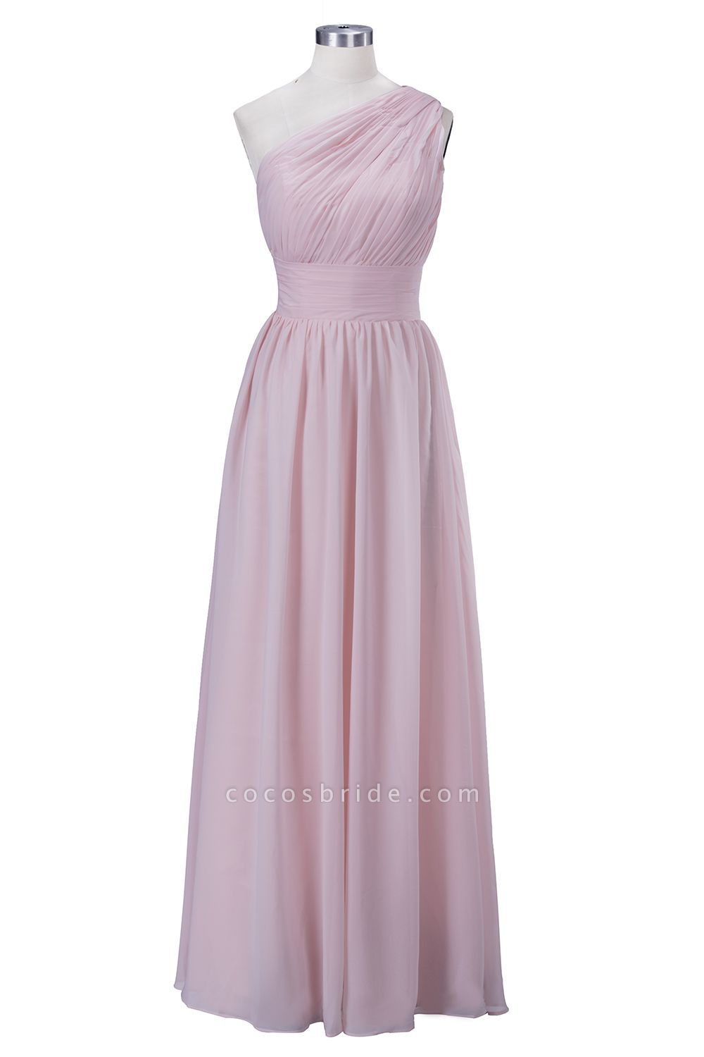 VIOLET | A-line One-shoulder Floor Length Ruffled Chiffon Bridesmaid Dresses