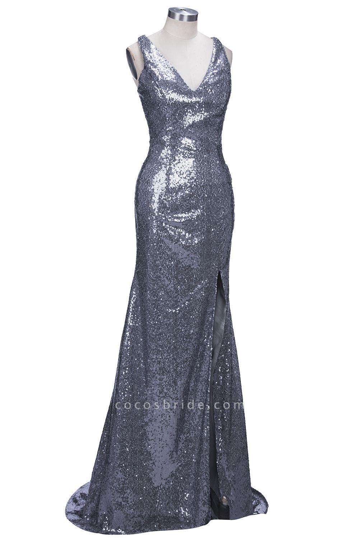 THELMA | Mermaid High Neck Long Sleeves Floor Length Appliqued Prom Dresses