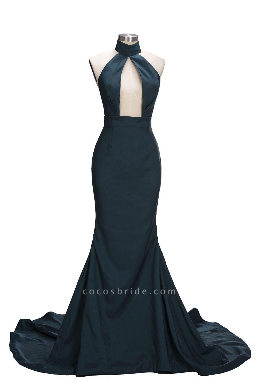 URSULA | Mermaid Halter Floor Length Hollow Front Prom Dresses