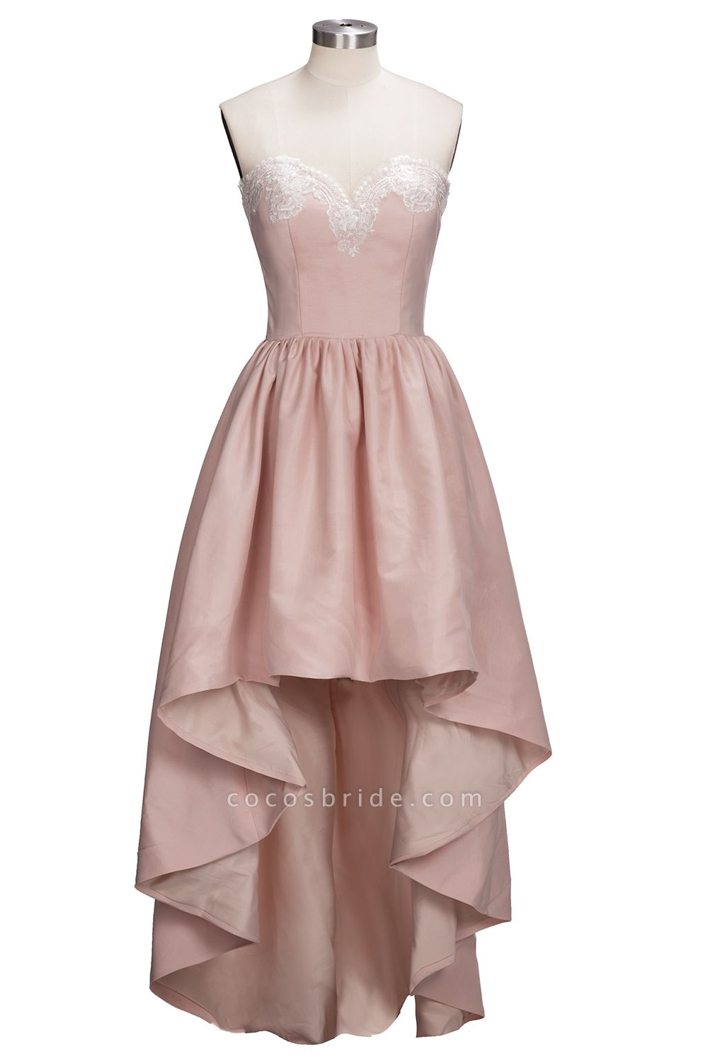 TIFFANY | A-line Strapless Sweetheart High-low Sleeveless Prom Dresses