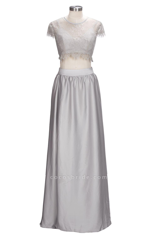 VIVIEN | A-line Two-piece Floor Length Lace Top Prom Dresses