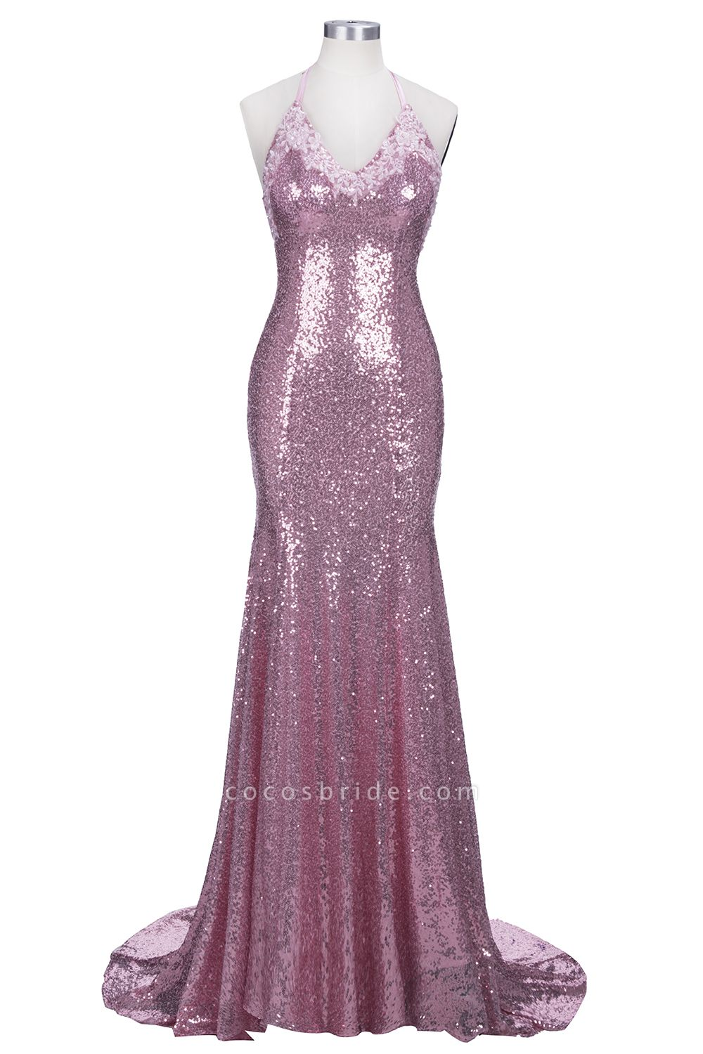 Glorious Spaghetti Straps Sequined Mermaid Prom Dress
