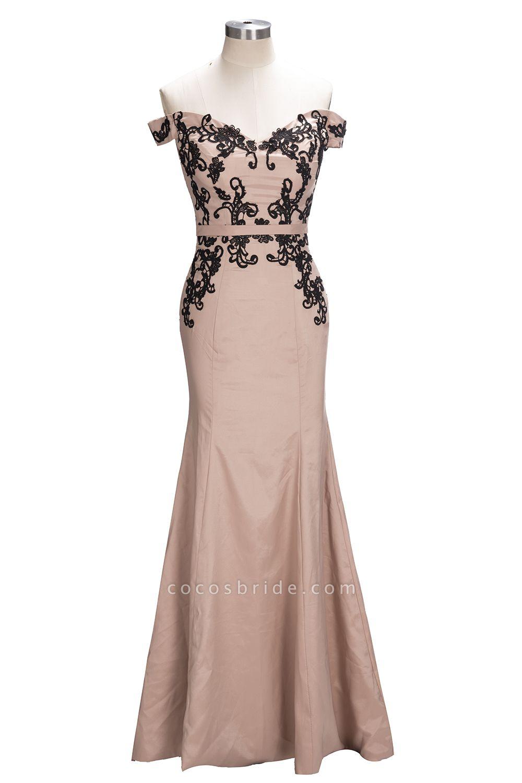 Off The Shoulder Cap Sleeves Lace Mermaid Bridesmaid Dress