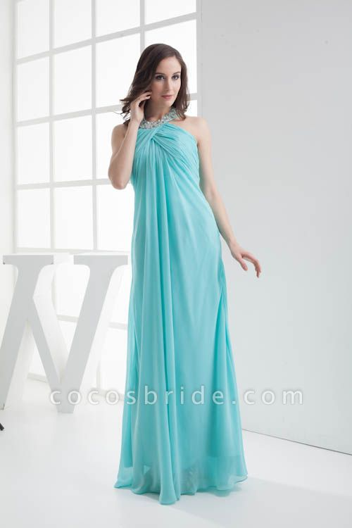 Strapless Column Ankle Length Bridesmaid Dress