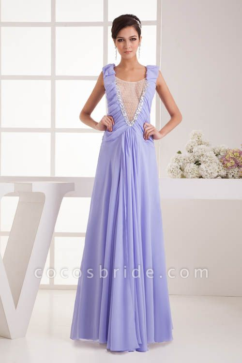 Fascinating Jewel Chiffon A-line Bridesmaid Dress