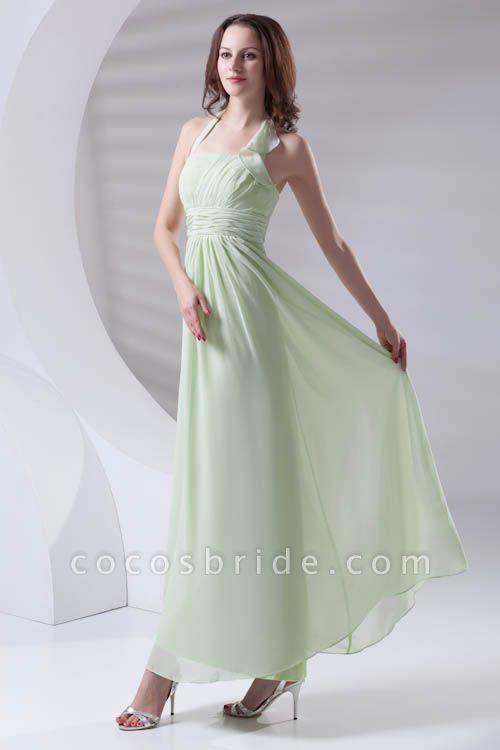 Fascinating Straps Chiffon A-line Bridesmaid Dress