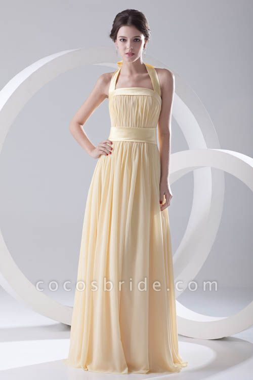 Fascinating Halter Chiffon A-line Bridesmaid Dress