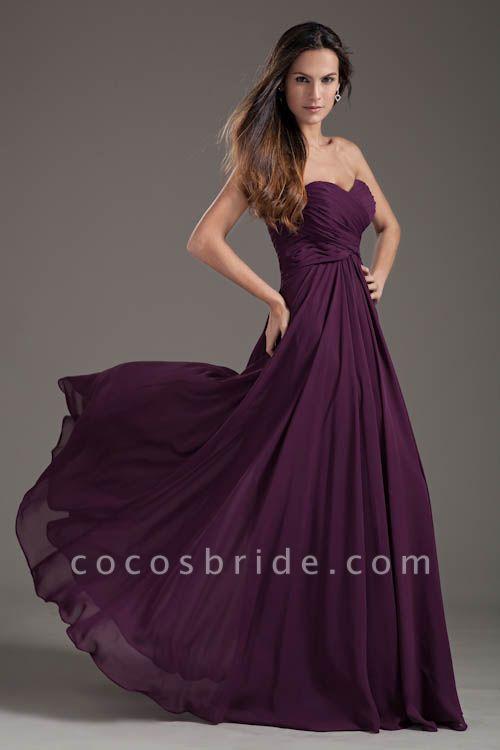 Awesome Sweetheart Chiffon A-line Bridesmaid Dress