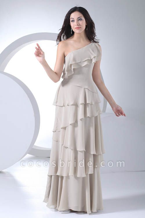 Fascinating One Shoulder Chiffon A-line Bridesmaid Dress