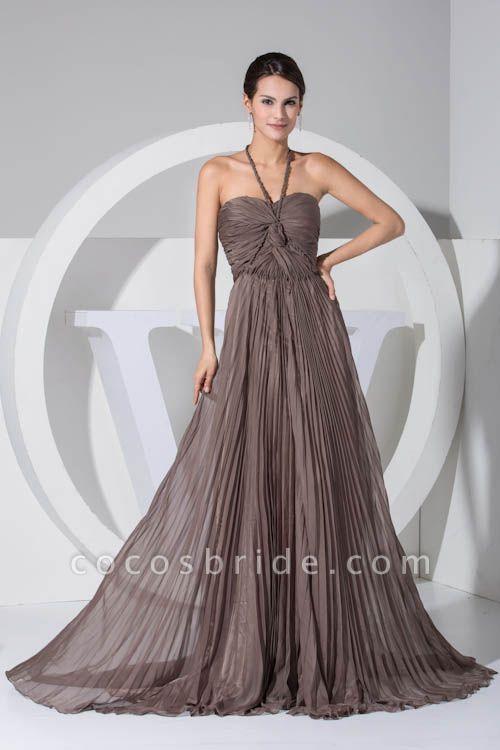 Excellent Halter Chiffon A-line Bridesmaid Dress