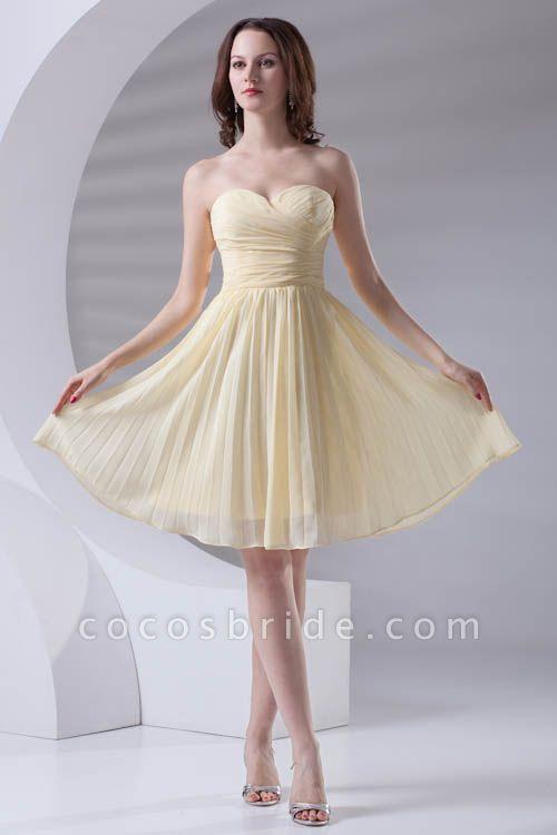 Fascinating Sweetheart Chiffon A-line Bridesmaid Dress