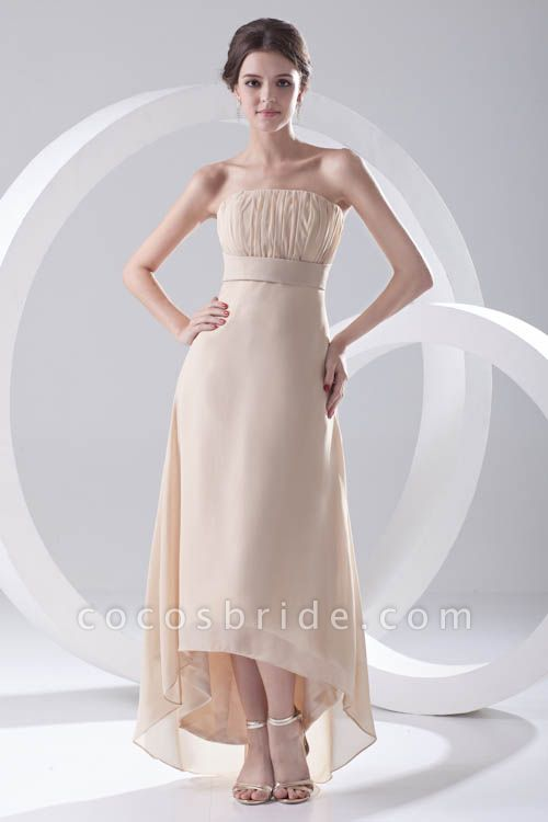 LILIA | A-line High-Low Sleeveless Chiffon Bridesmaid Dresses