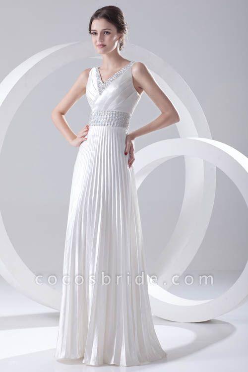 Beautiful V-neck Chiffon A-line Bridesmaid Dress