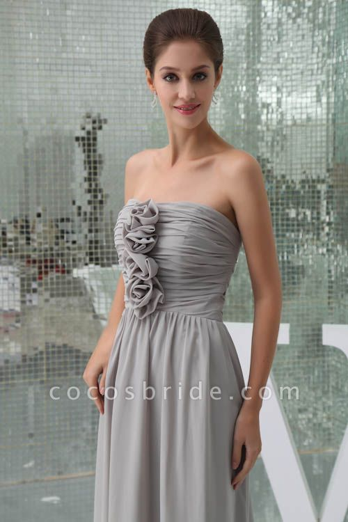 Awesome Strapless Chiffon A-line Bridesmaid Dress