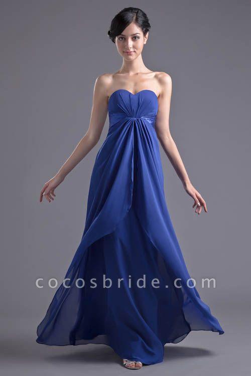 Precious Sweetheart Chiffon A-line Bridesmaid Dress