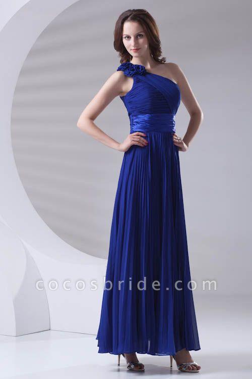 LILIANA | A-line One Shoulder Floor Length Chiffon Bridesmaid Dresses