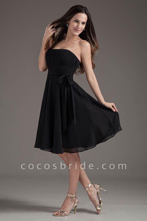 Amazing Strapless Chiffon A-line Bridesmaid Dress