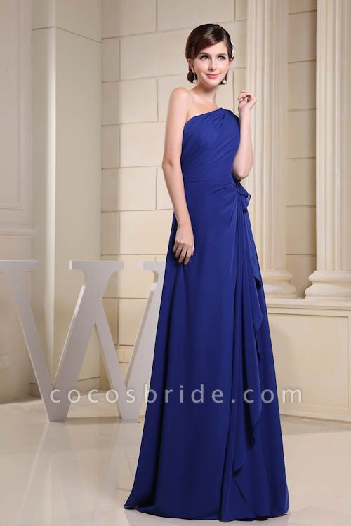 KIRA | A Type One Shoulder Chiffon Bridesmaid Dress with Fold