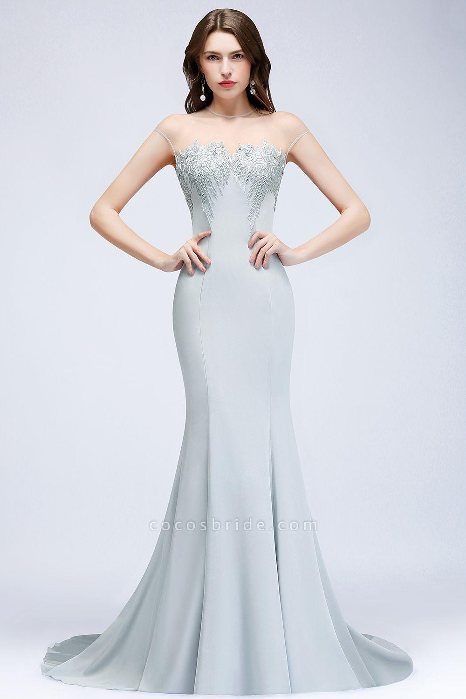 Best Jewel Stretch Satin Mermaid Evening Dress