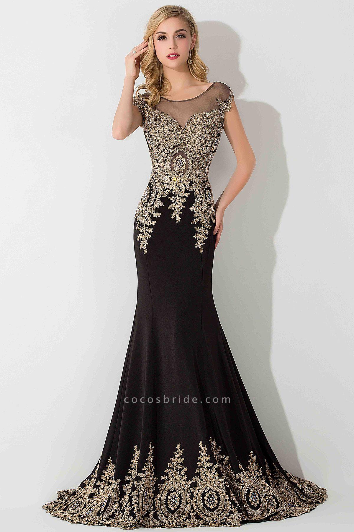 BM0118 Mermaid Appliques Sleeveless Birdesmaid Dress