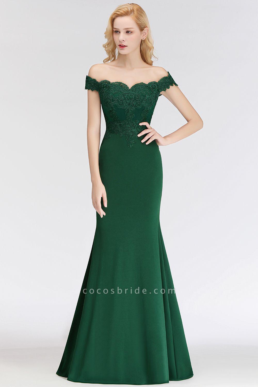 Mermaid Off-the-shoulder Long Appliques Bridesmaid Dress