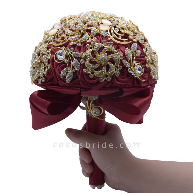 Luxury Crystal Beading Rose Bouquet for Wedding