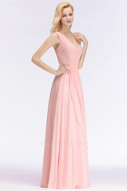 One-shoulder A-line Sweetheart Ruffles Chiffon Bridesmaid Dresses