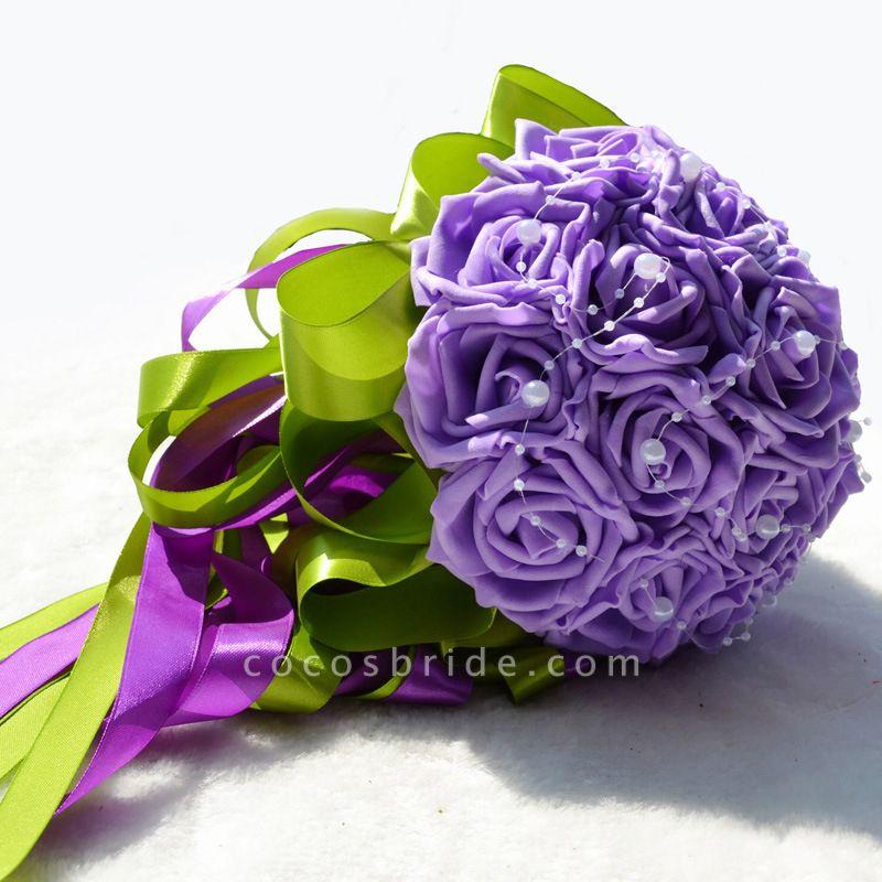 Gogerous Silk Rose Multiple Colors Wedding Bouquet