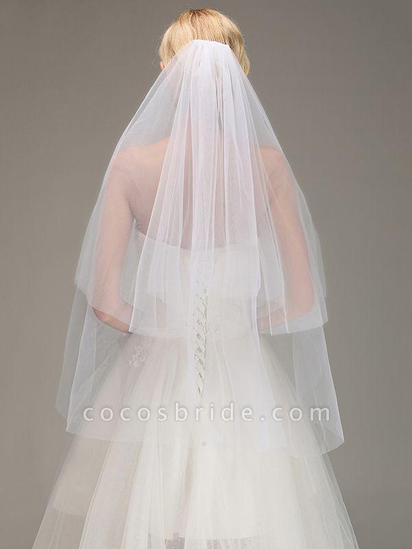 Tulle Bridal Veil Wedding Veil with Comb