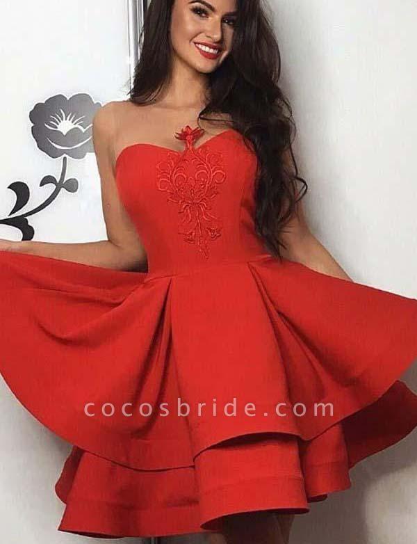 Fashion Sweetheart A-Line Appliques Sleeveless Mini Prom Dress