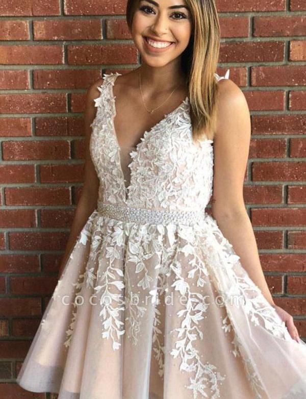 Marvelous V-neck Appliques A-line Homecoming Dress