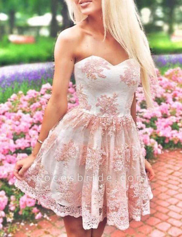 Fabulous Sweetheart Appliques A-line Cocktail Dress